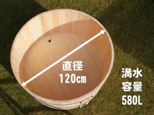 富士山の檜風呂 1人用 たまご形 【節】 セット内容