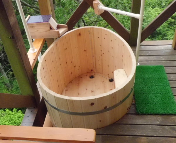 ひのき風呂 お客様の設置例